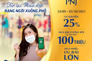 """Vàng bạc Phú Nhuận (PNJ): Thiết lập """"vùng xanh"""" đón khách hàng trở lại sau giãn cách"""
