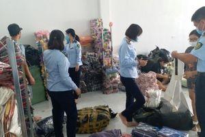 Thái Bình: Tạm giữ nhiều sản phẩm quần, áo vi phạm nhãn mác