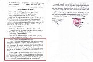 Huyện Đức Thọ, Hà Tĩnh: Chân dung 3 nhà thầu thường xuyên… tự trượt!
