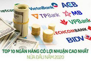 TOP 10 ngân hàng có lợi nhuận cao nhất nửa đầu năm 2020