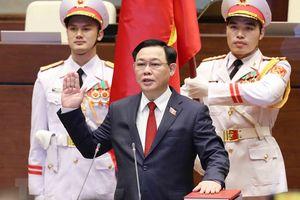 Chùm ảnh: Tân Chủ tịch Quốc hội Vương Đình Huệ tuyên thệ nhậm chức