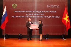 Incentra trao 100.000 khẩu trang y tế tặng Đại sứ quán Liên Bang Nga và người dân TP. Mátxcơva